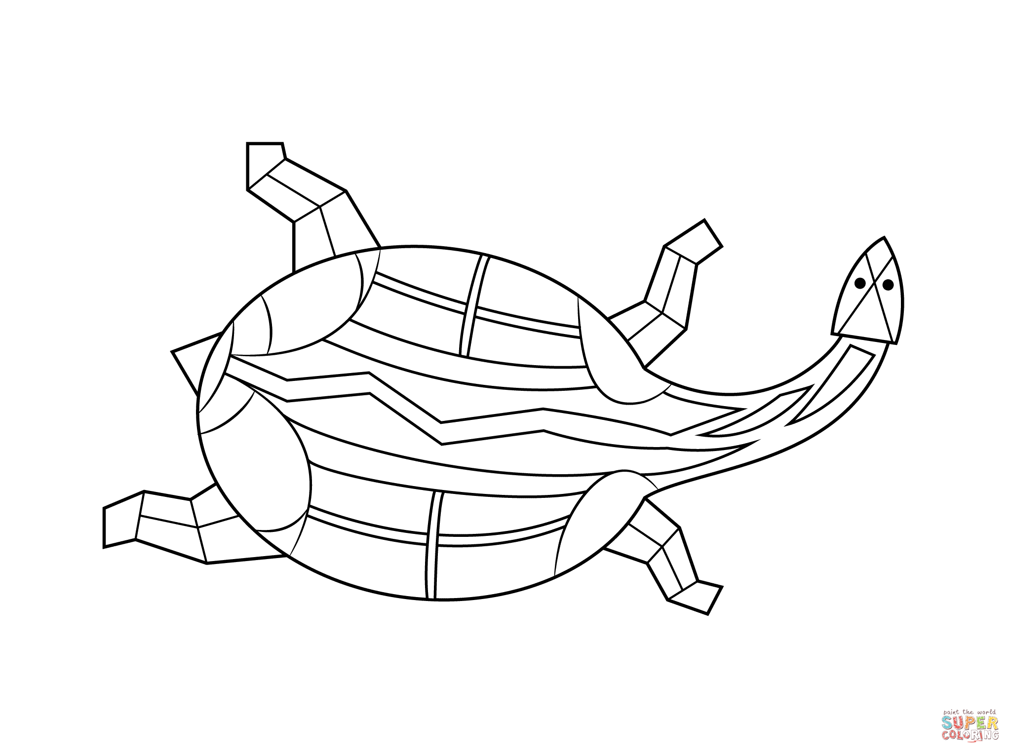 Aboriginal Painting Of Turtle Coloring Page