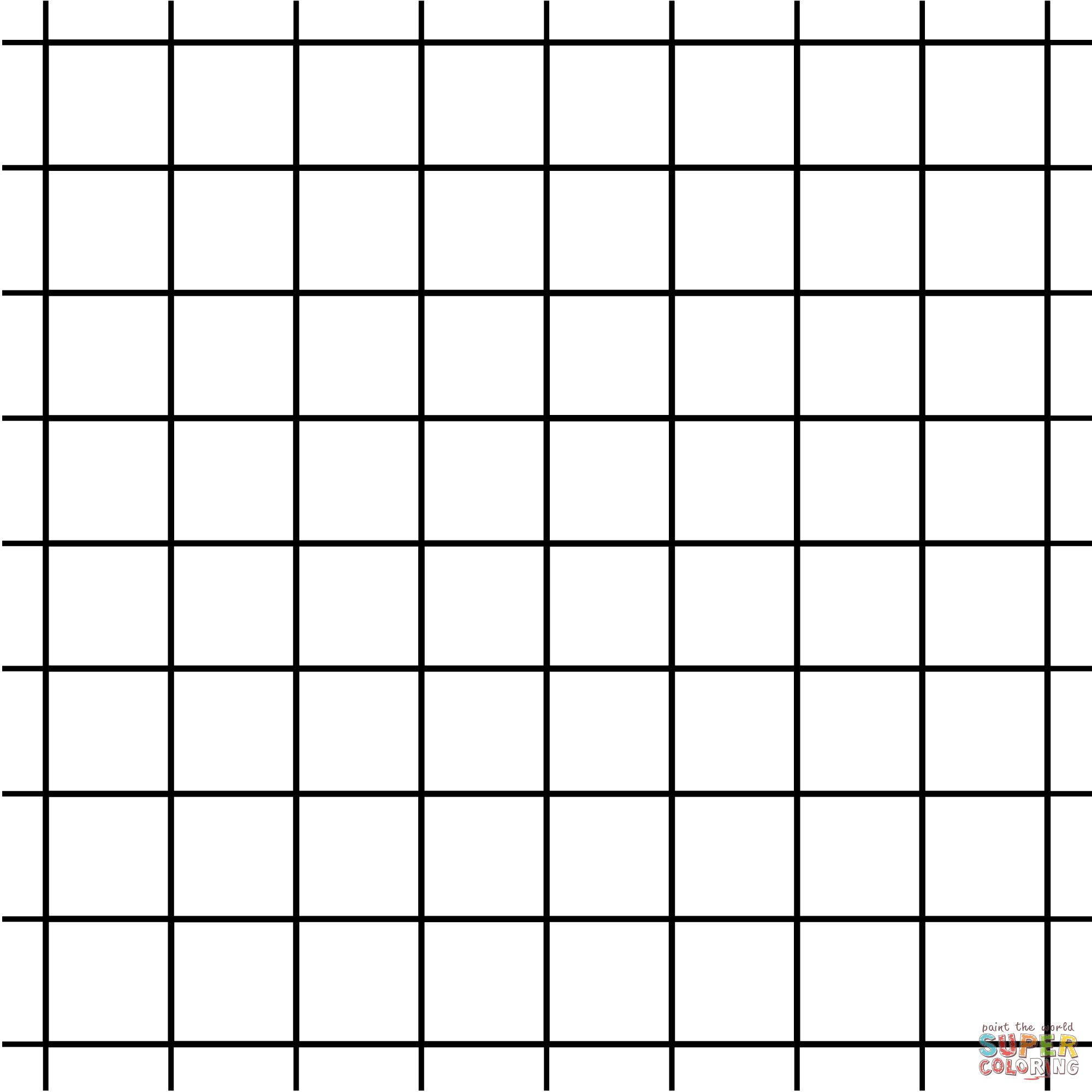 Coloriage Tessellation Gomtrique Avec Carrs Et