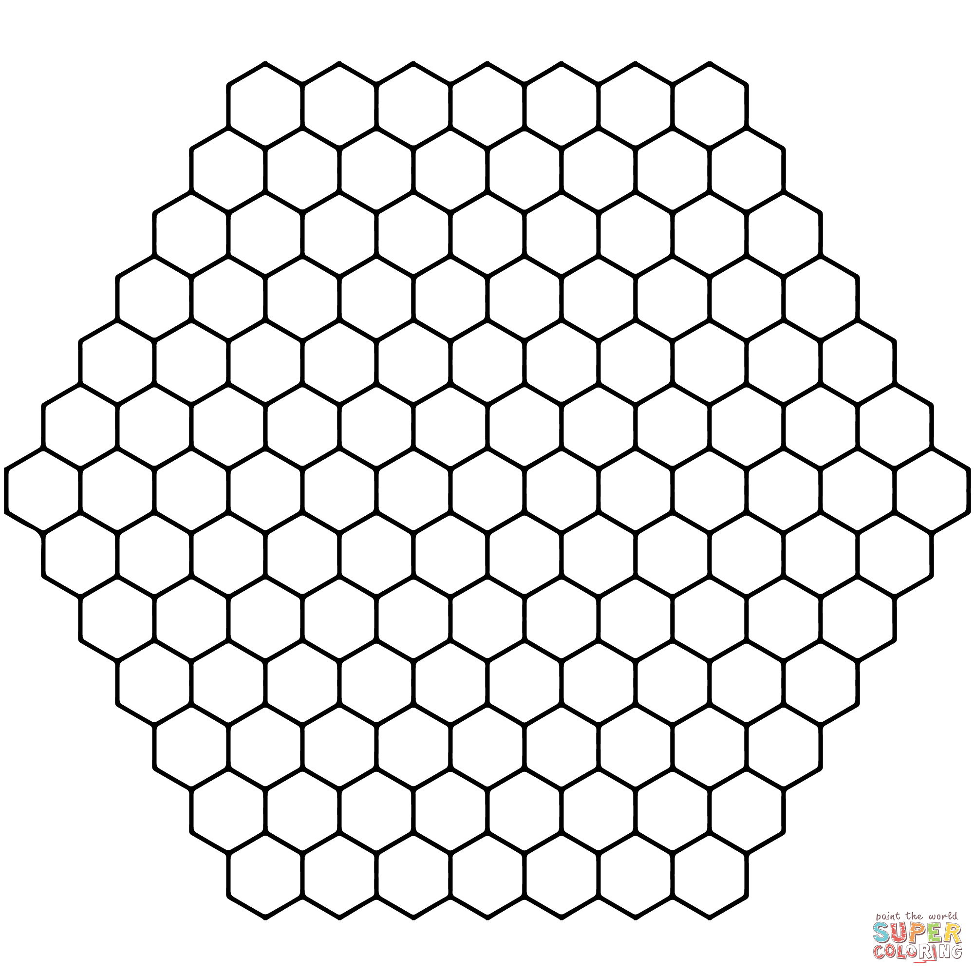 Honeycomb Tessellation Coloring Page