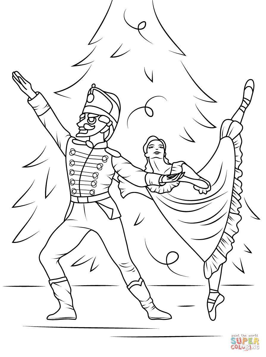 Nutcracker Ballet Coloring Page Free Printable Coloring Pages