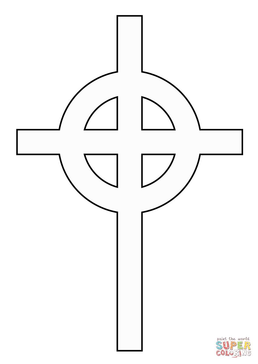 Ausmalbild Einfaches Keltisches Kreuz Ausmalbilder