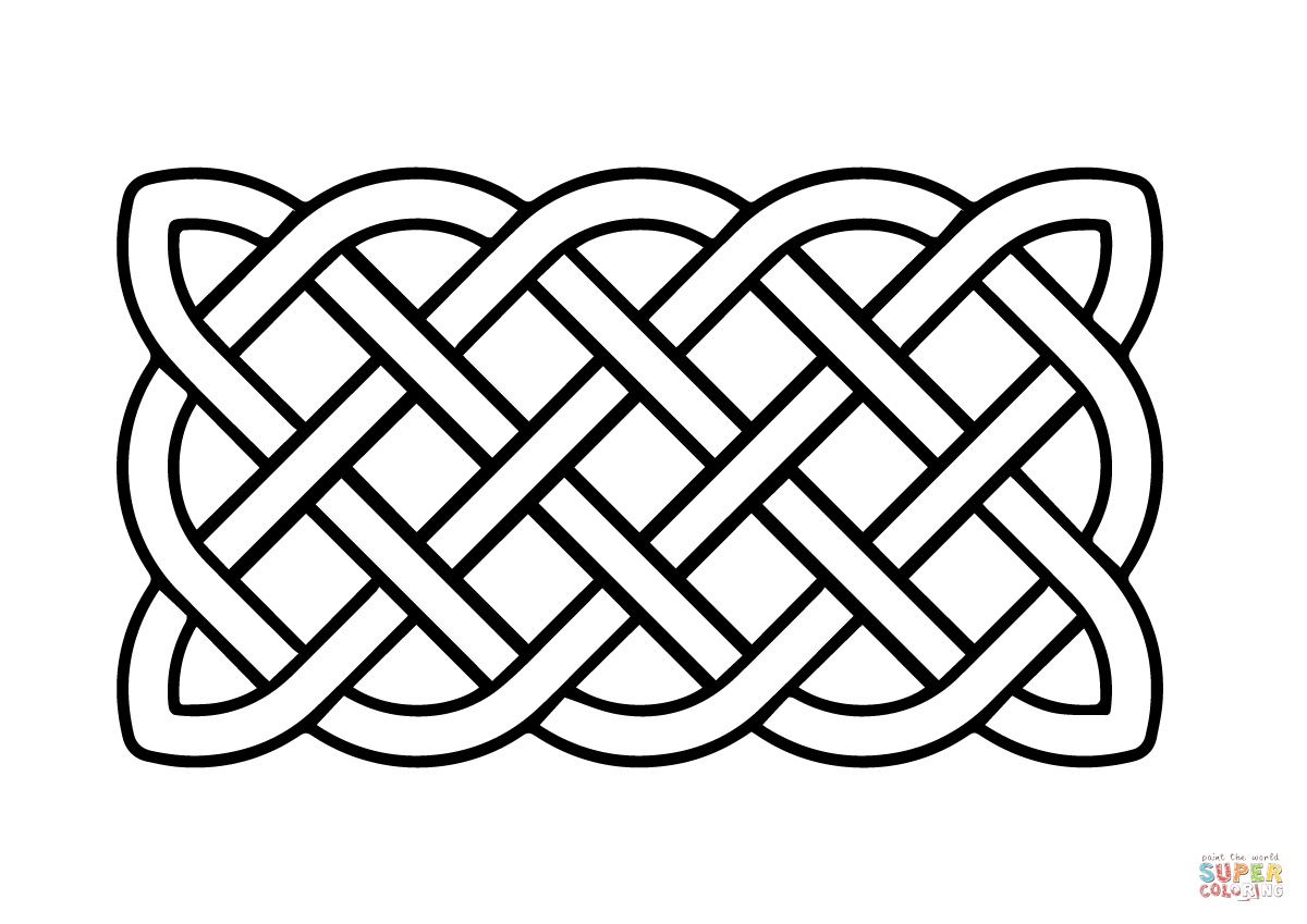 Celtic Basic Rectangular Knot Coloring Page