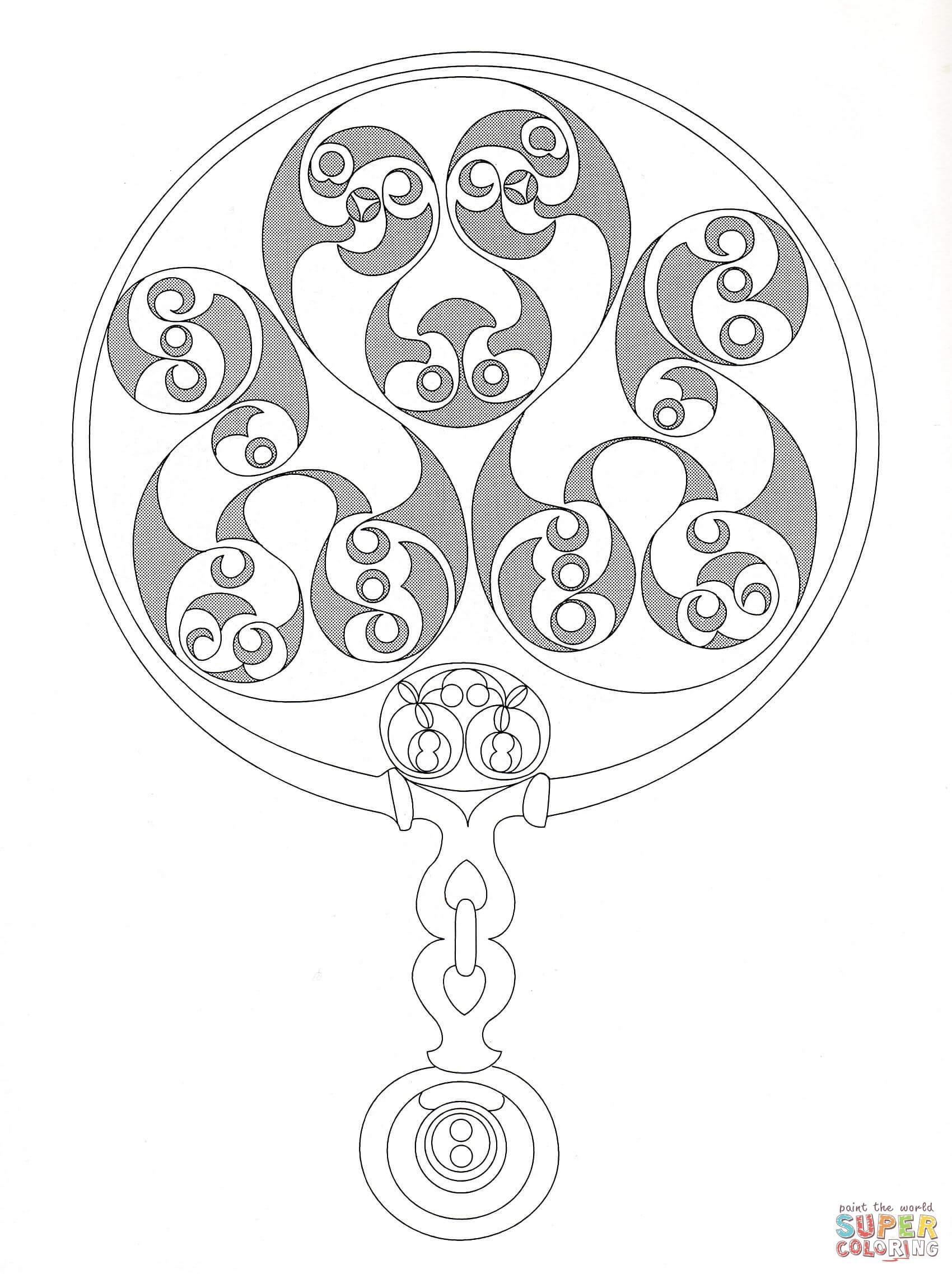 Celtic Design 3 Coloring Page