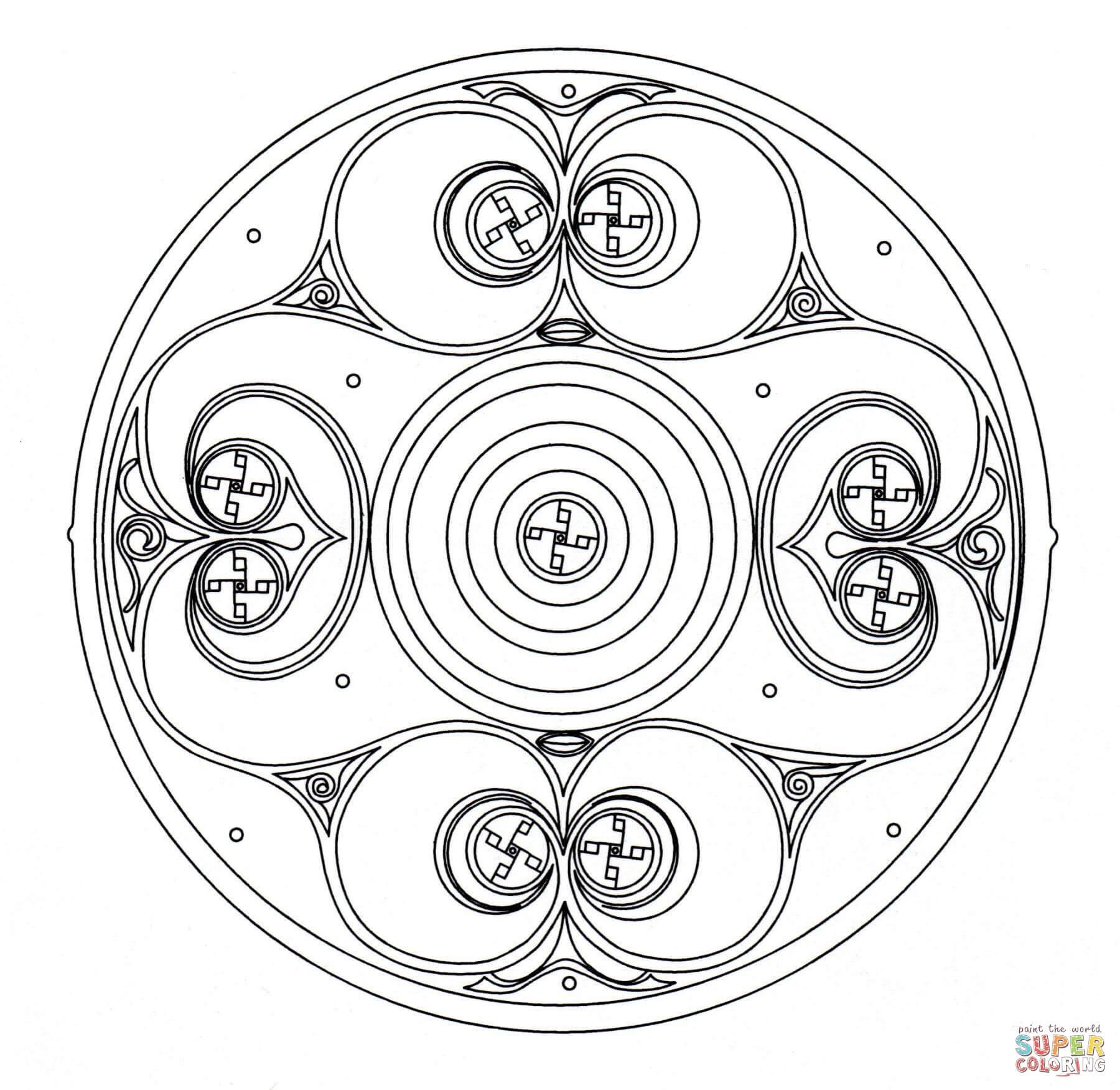 Celtic Mandala 2 Coloring Page