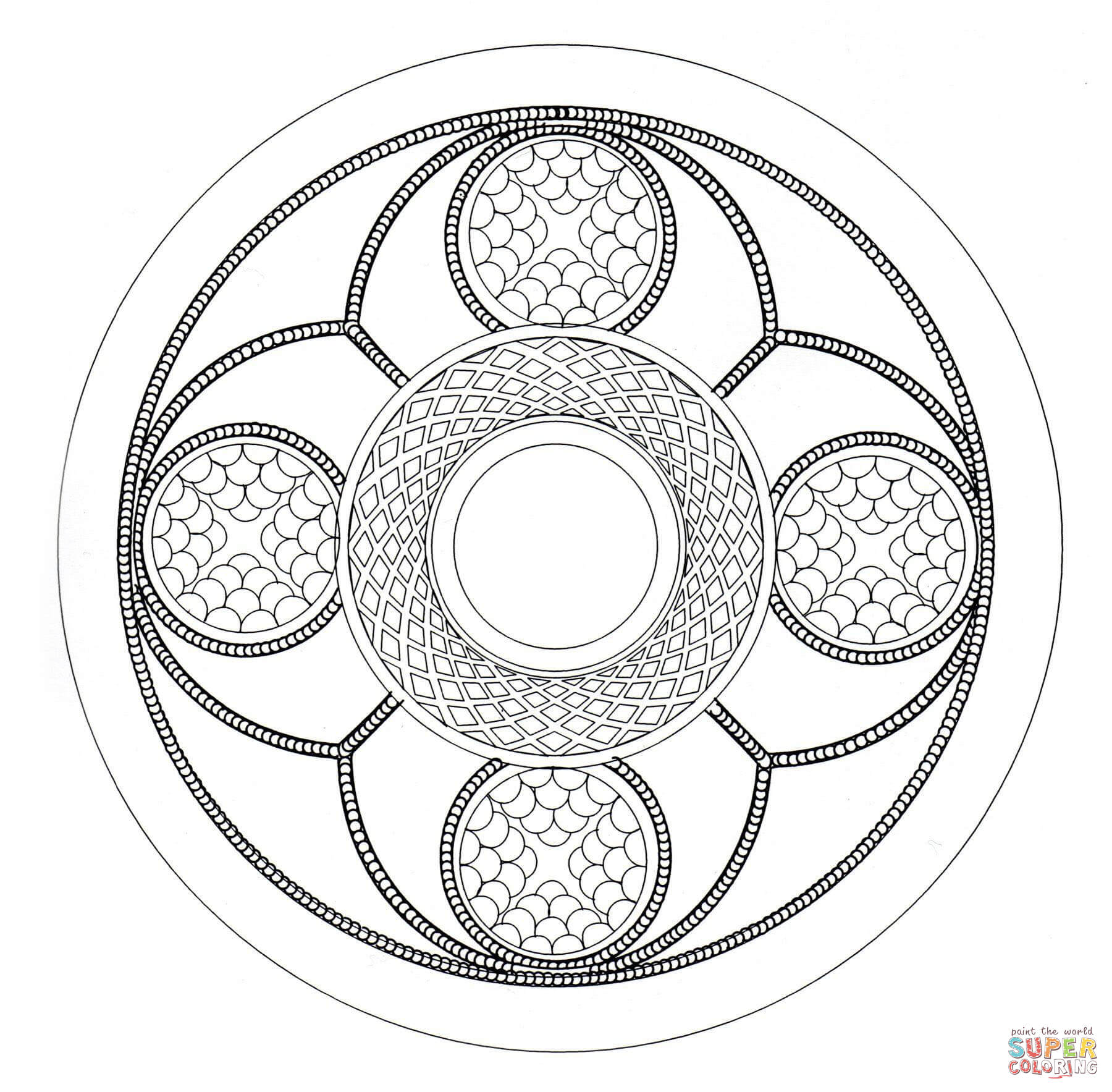 Celtic Mandala 6 Coloring Page