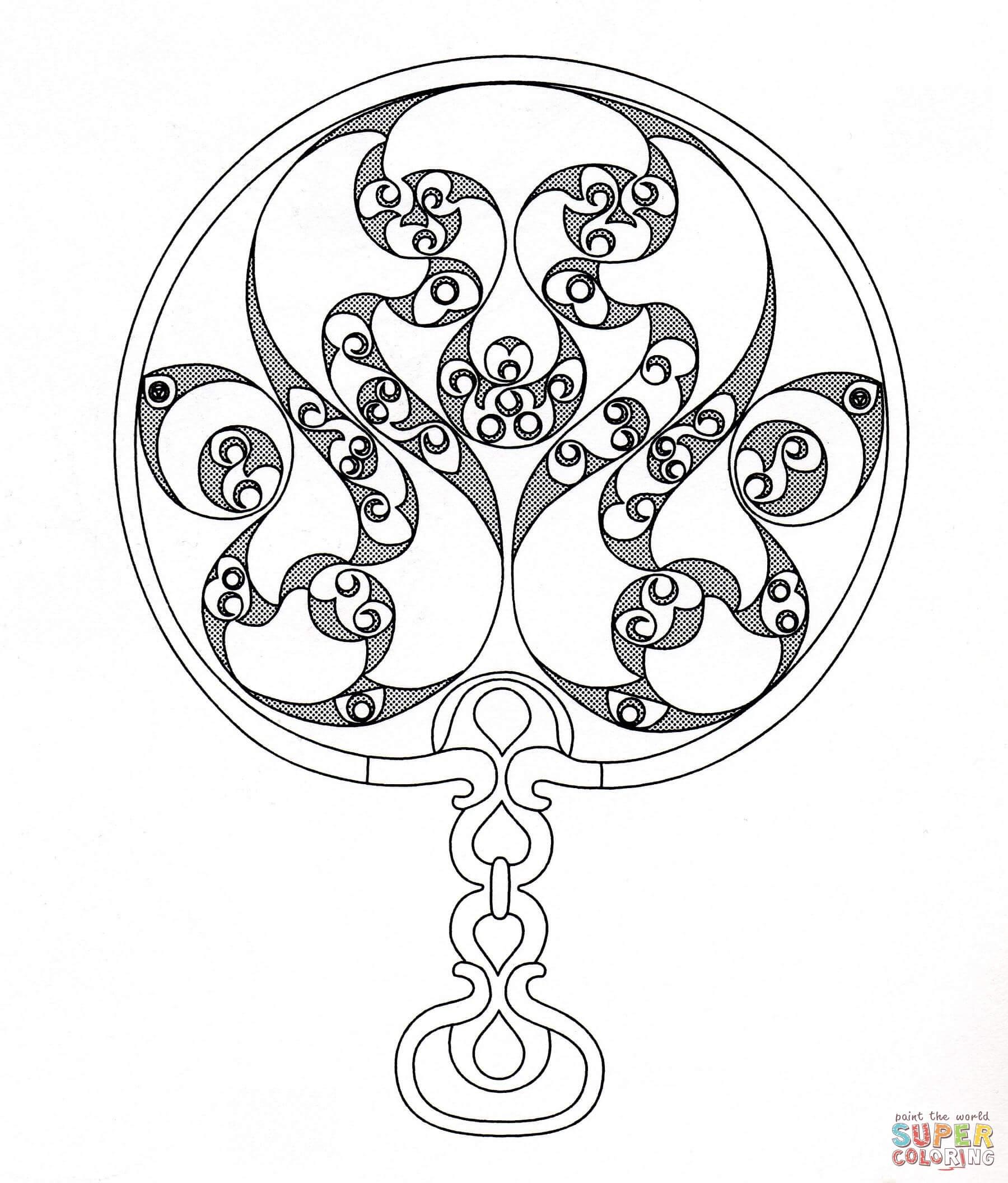 Celtic Ornament Coloring Page