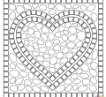 Mosaic heart full hd coloring printable mosaic of for kids smartphone page