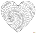 Heart mosaic photos coloring printable mosaic of adult androids hd pics page