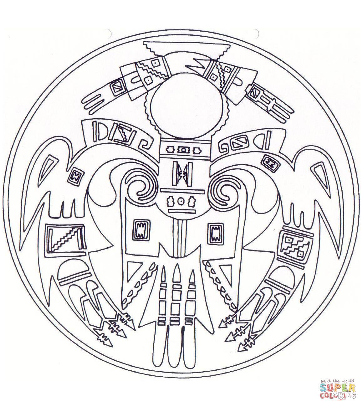 Native American Mandala Coloring Page