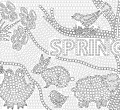 Spring mosaic full hd coloring printable mosaic for androids page