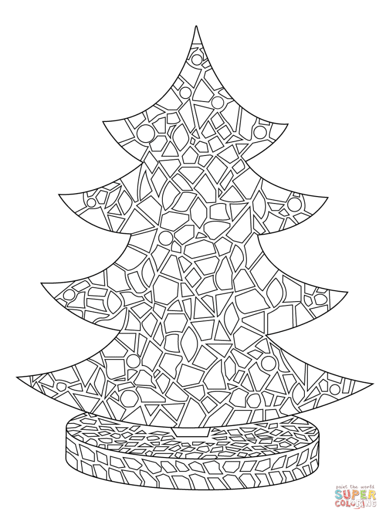 christmas tree coloring pages | free coloring pages