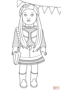American Girl Mckenna coloring page | Free Printable ...