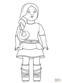 American Girl Saige coloring page | Free Printable ...