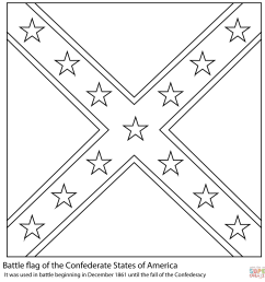 battle flag of the confederate states of america from american civil war [ 1590 x 1590 Pixel ]