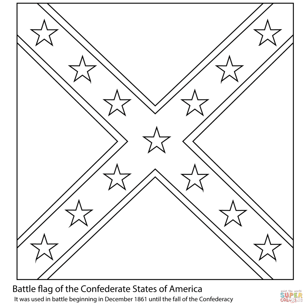 medium resolution of battle flag of the confederate states of america from american civil war