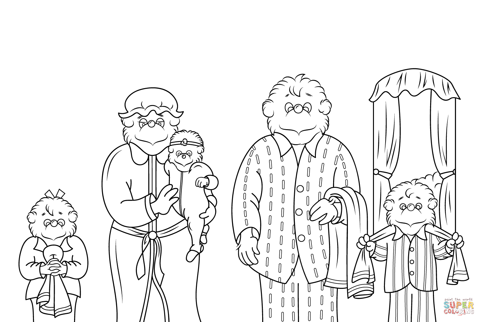 Berenstain Bears Coloring Page