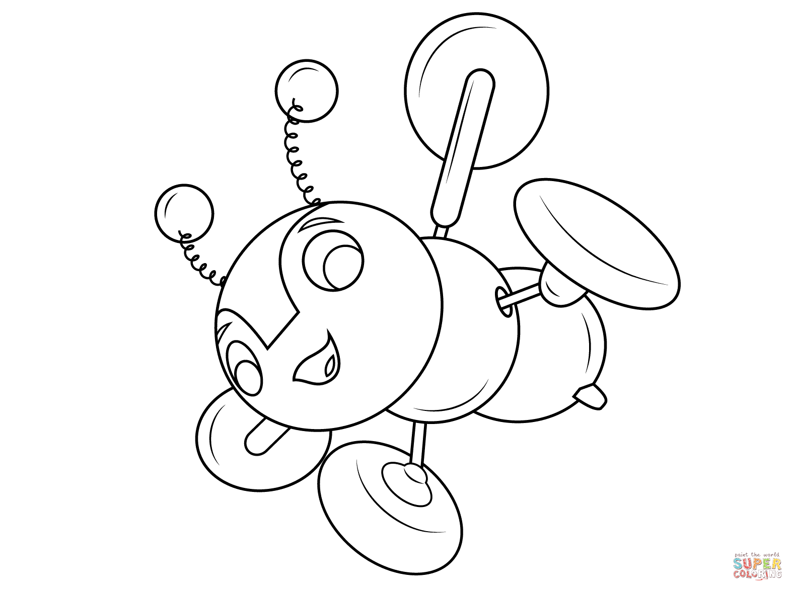 Buzzy Bee Coloring Page