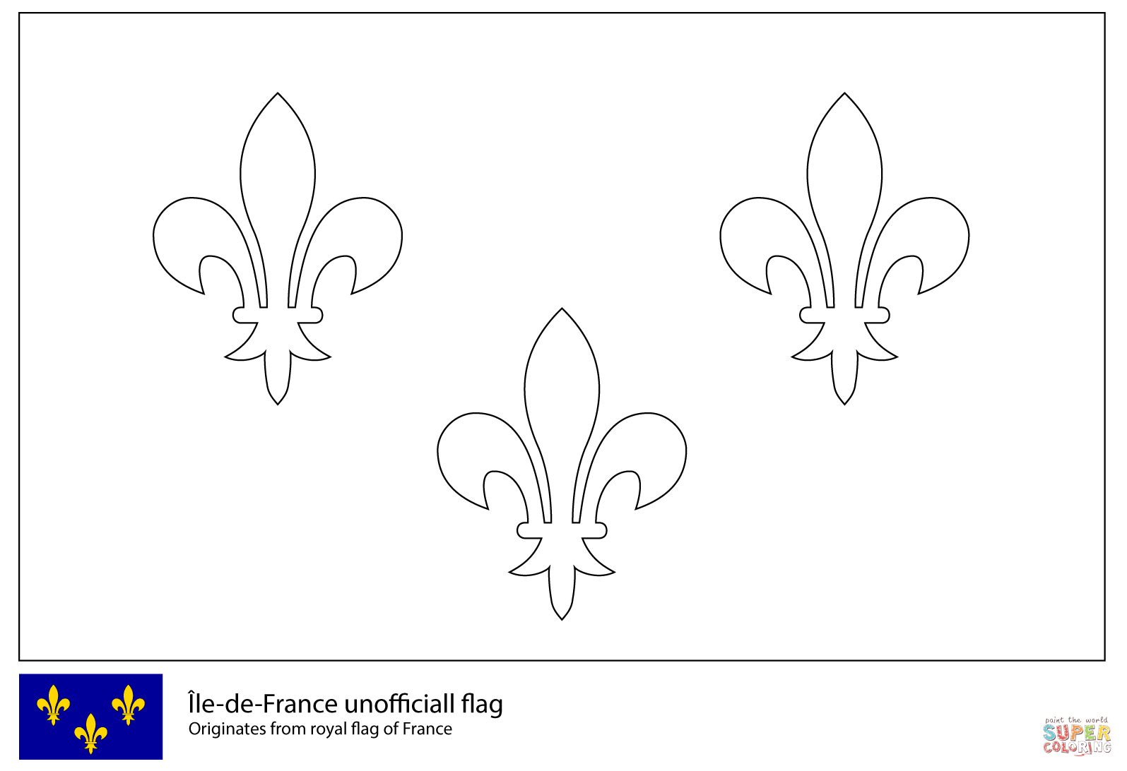 France Flag Coloring Page Travel Printable Az Pages Sketch