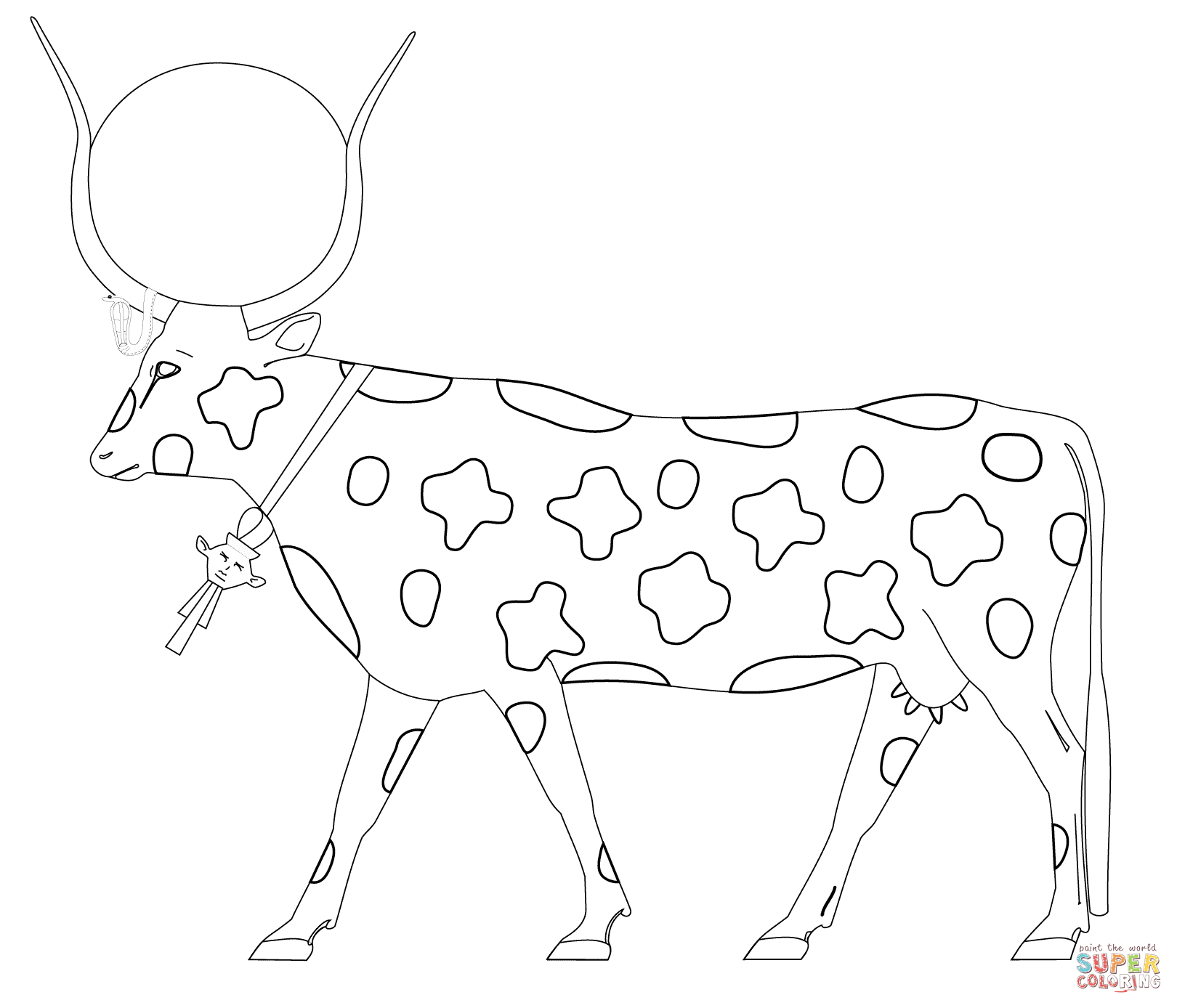 Hathor As A Cow Coloring Page