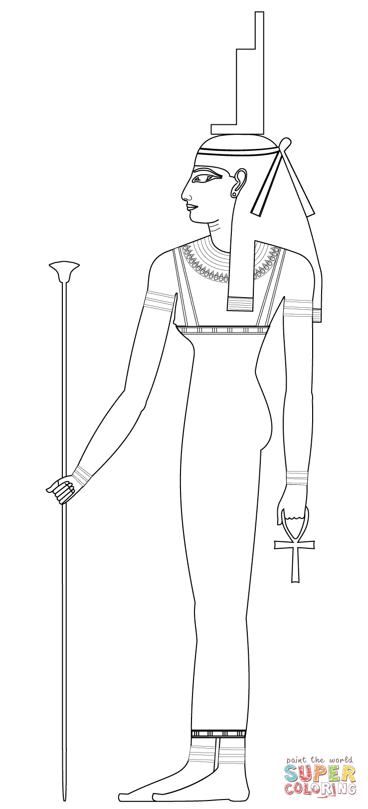 Ancient Egyptian House Pages Coloring Pages