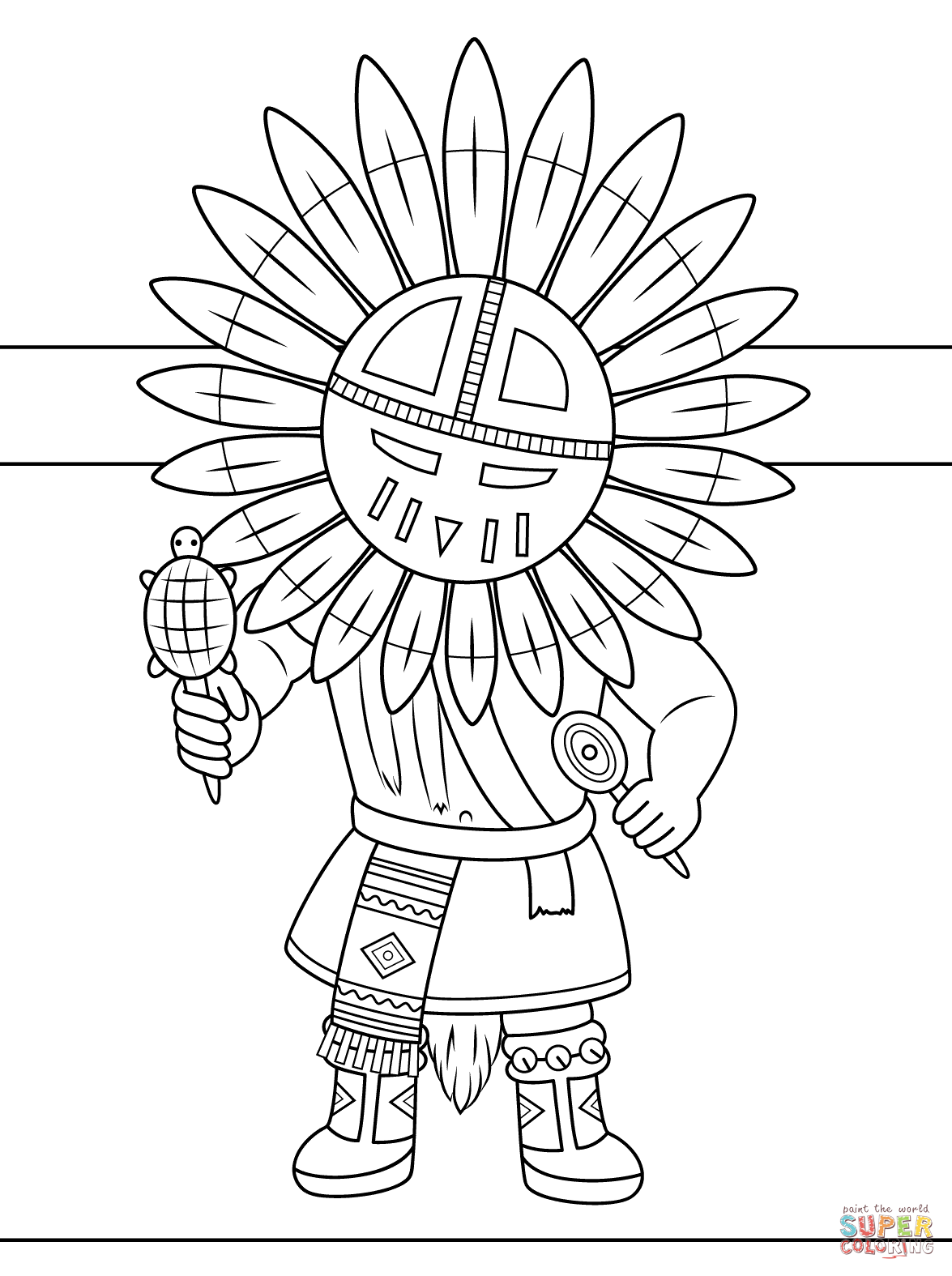 Kachina Doll Coloring Page
