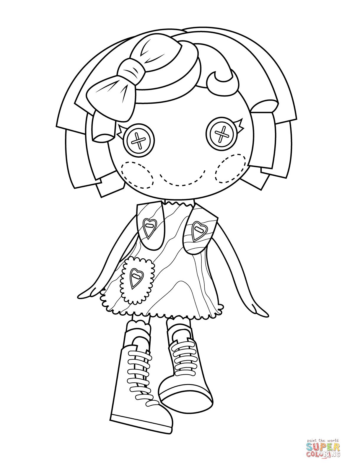 Lalaloopsy Pillow Featherbed Coloring Page