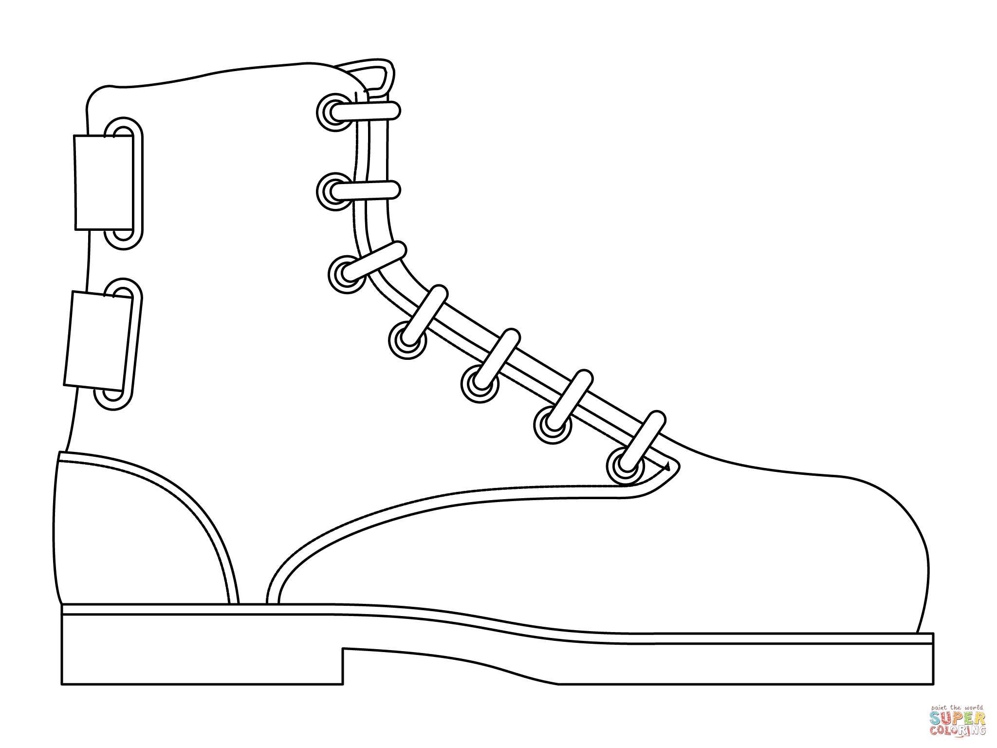 Military Boot Coloring Page