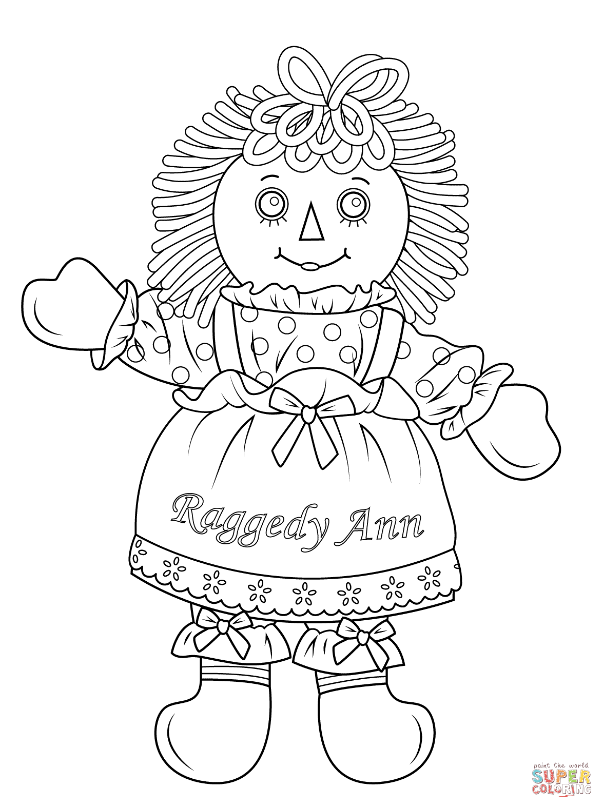Antique Raggedy Ann Coloring Page Coloring Pages