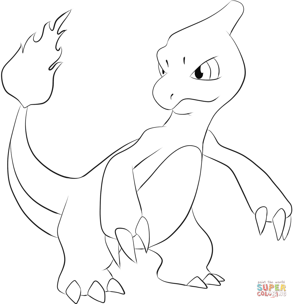 Charmeleon Coloring Page Free Printable Coloring Pages