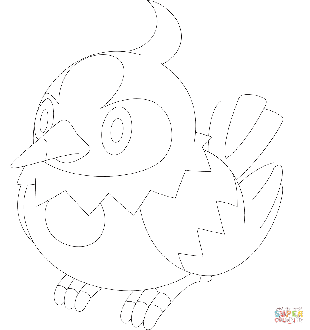 Starly Coloring Page