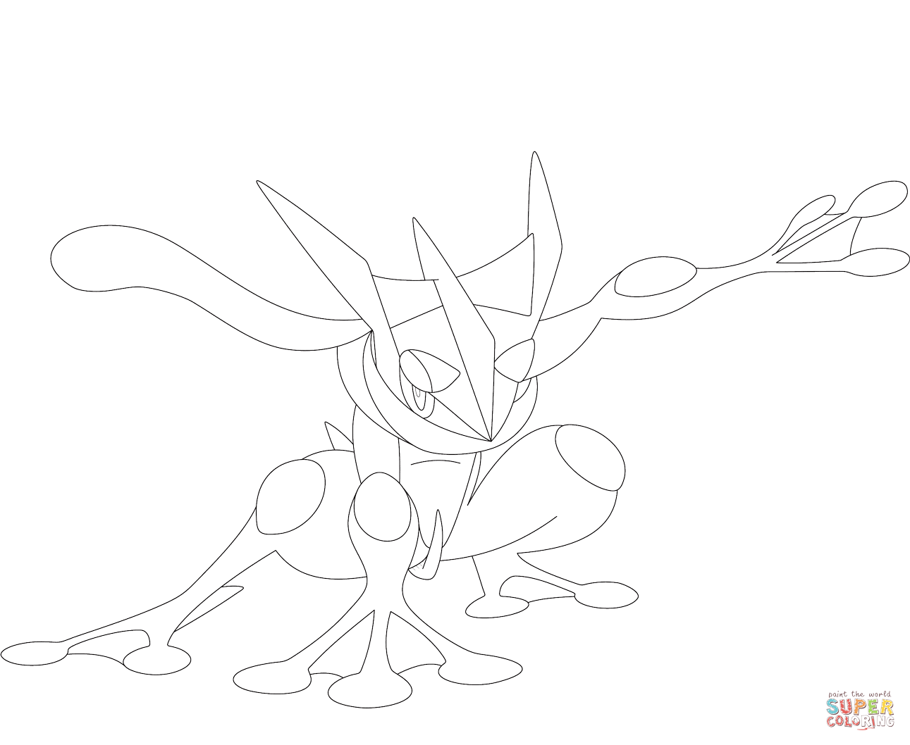 Greninja Coloring Page Free Printable Coloring Pages