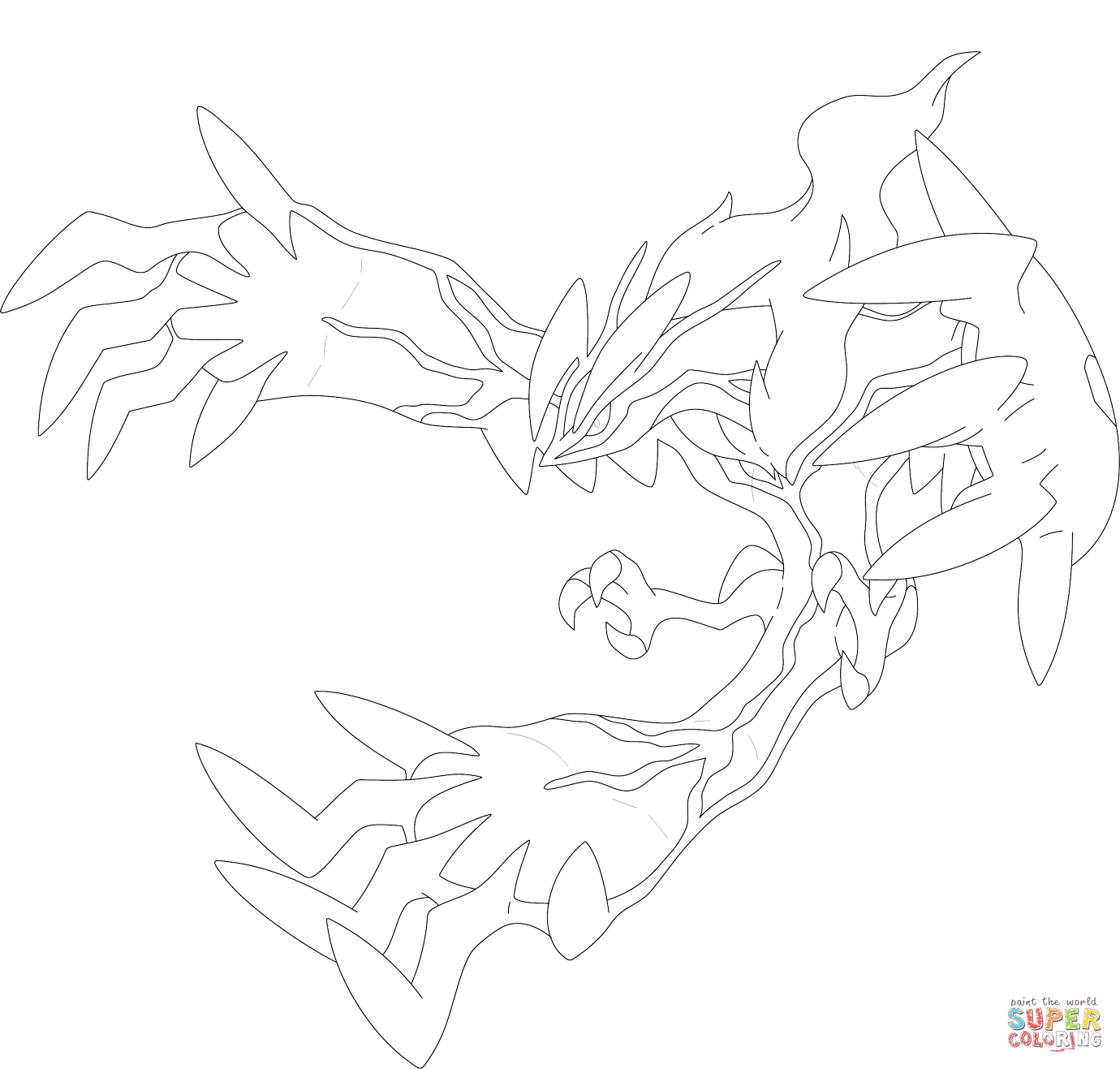 The Yveltal Coloring Pages yveltal pokemon