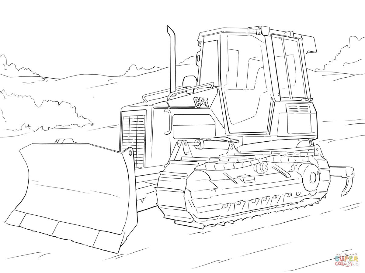Dibujo De Bulldozer Gusano Para Colorear