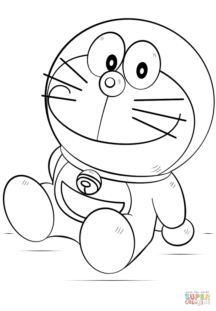 Doraemon Coloring Page Free Printable Coloring Pages