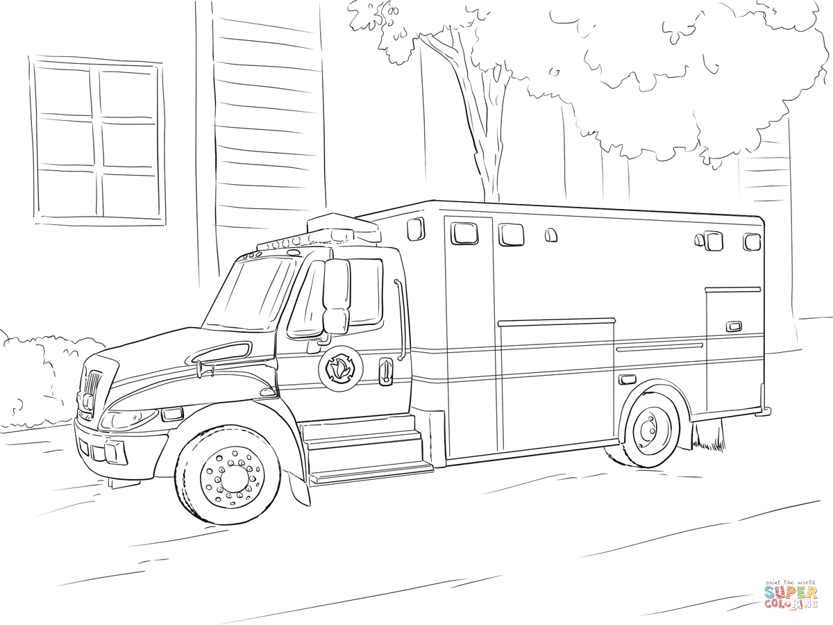 Emergency Car Coloring Page Free Printable Coloring Pages