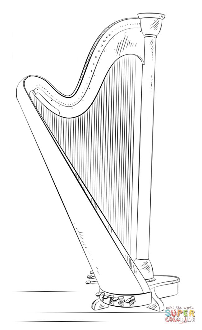 Coloriage Harpe Coloriages Imprimer Gratuits