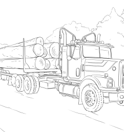 click the log truck coloring pages  [ 1200 x 900 Pixel ]