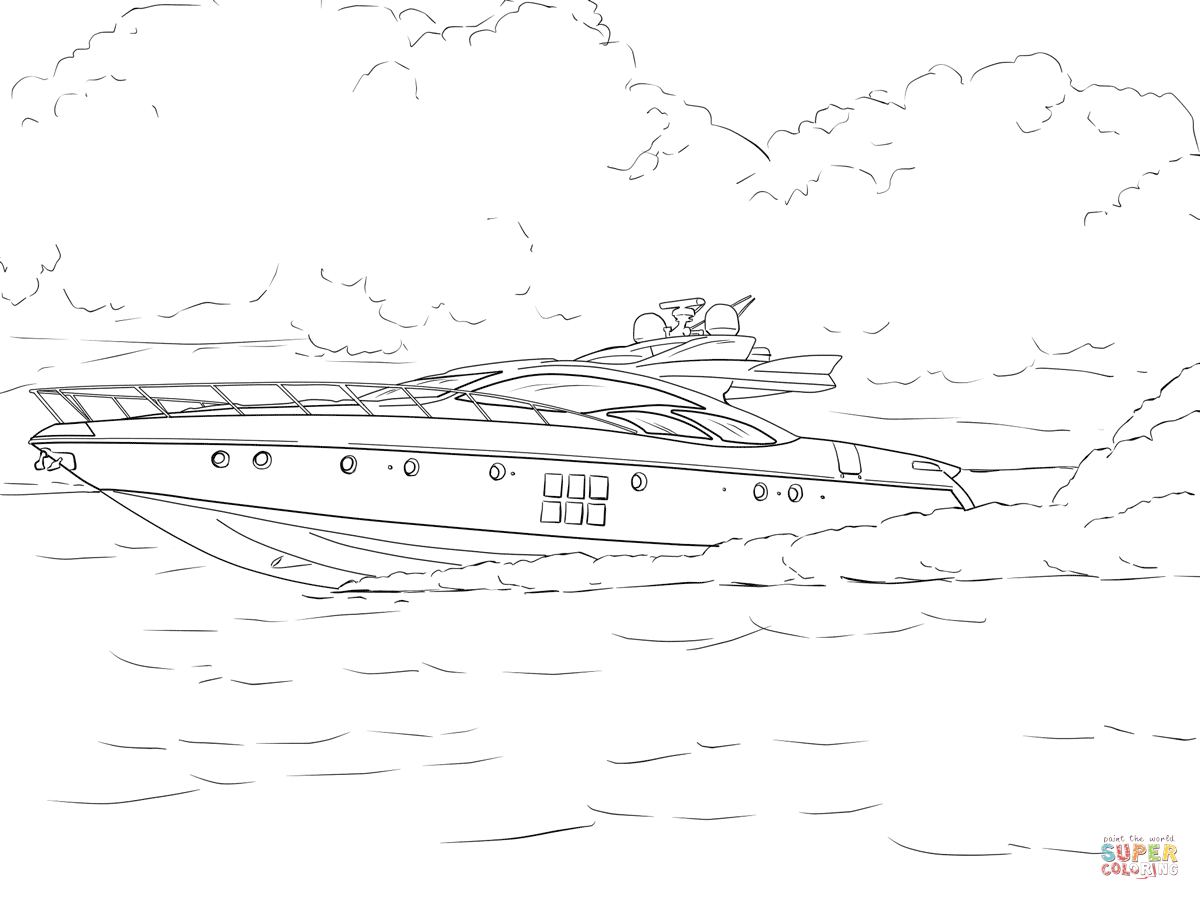Speed Boat Coloring Page