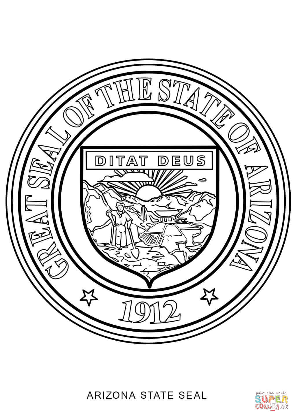 Michigan State Seal Page Coloring Pages