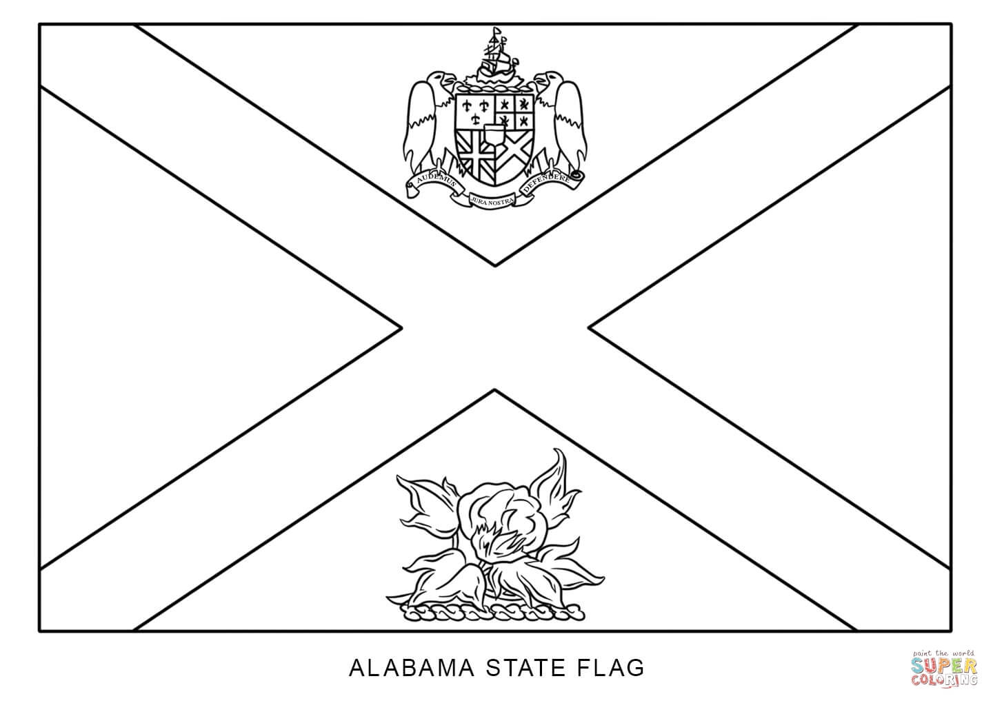 New Jersey State Flower Coloring Page