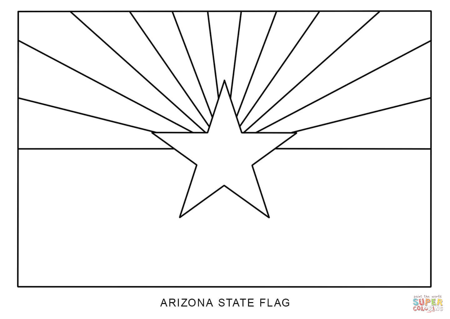 Flag Of Arizona Coloring Page