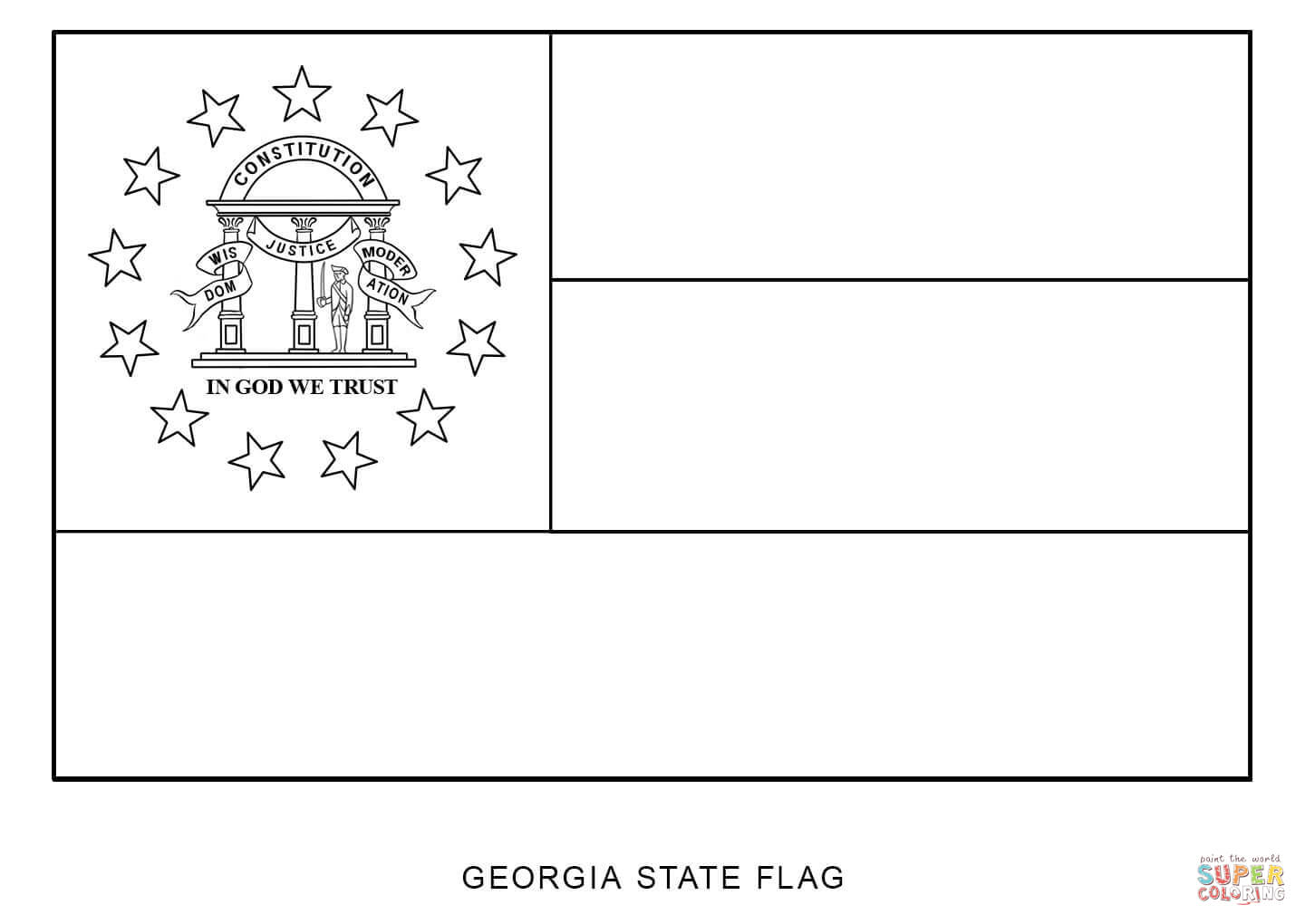 State Flag Of Georgia Coloring Page