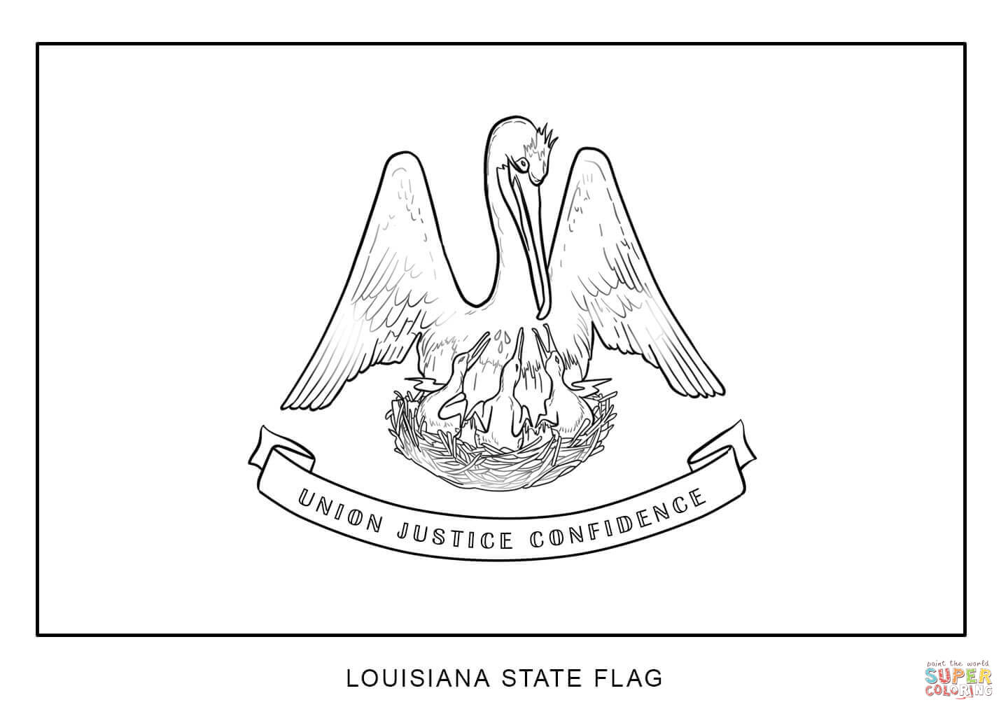 Flag Of Louisiana Coloring Page