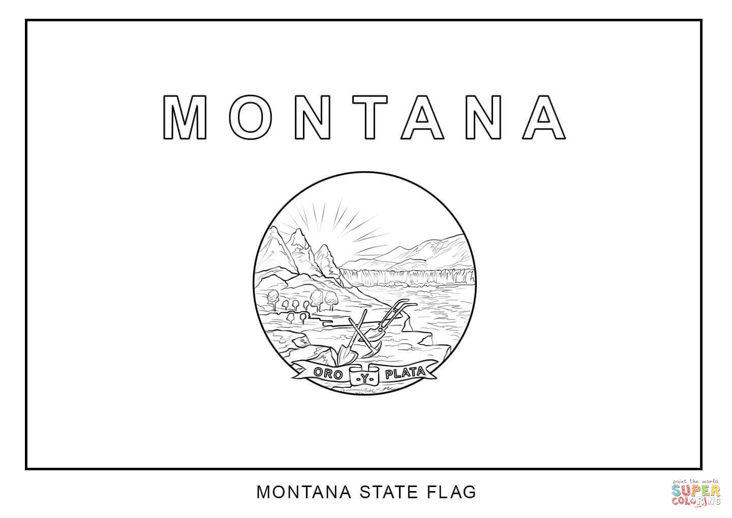 Flag Of Montana Coloring Page