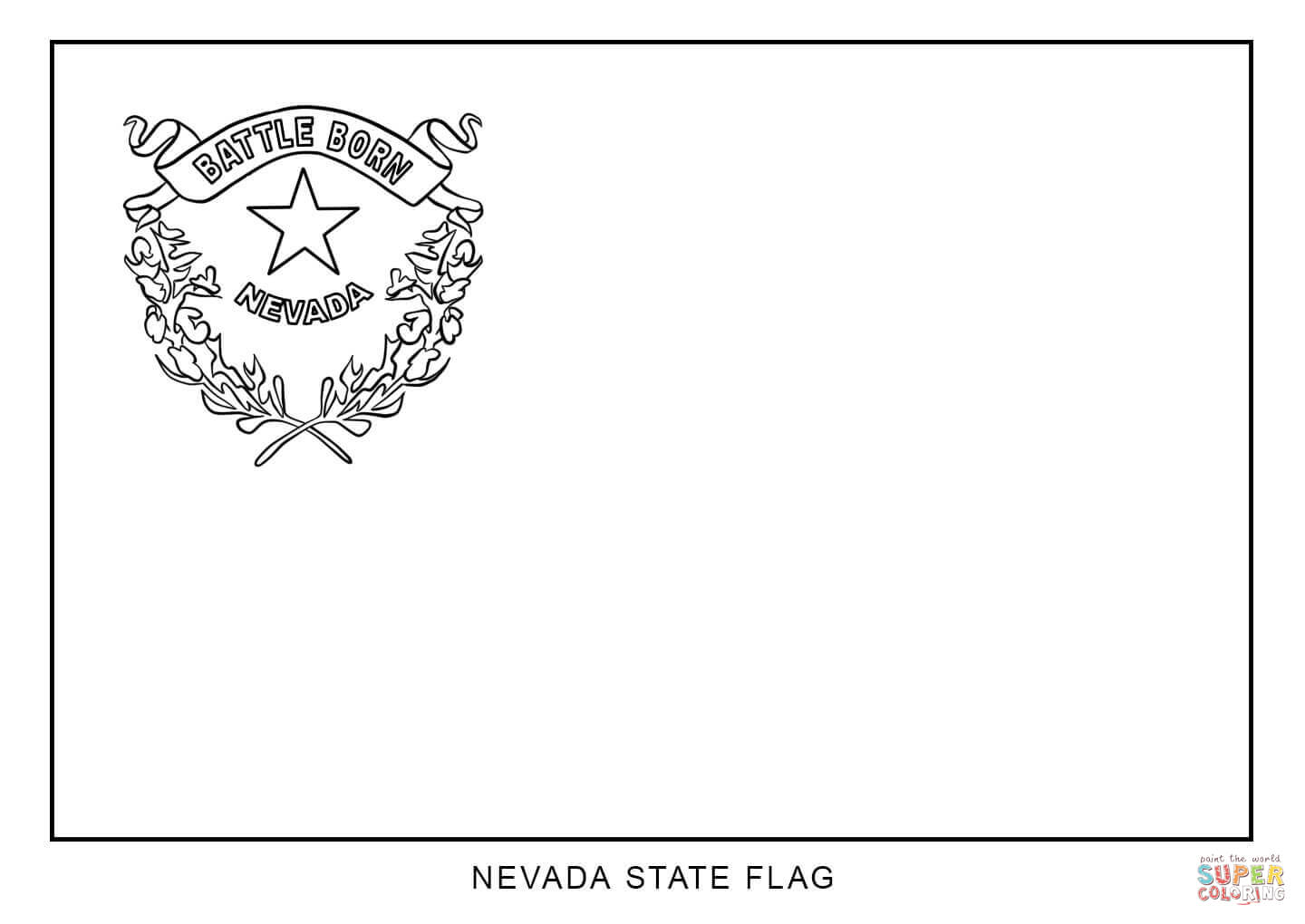 Flag Of Nevada Coloring Page