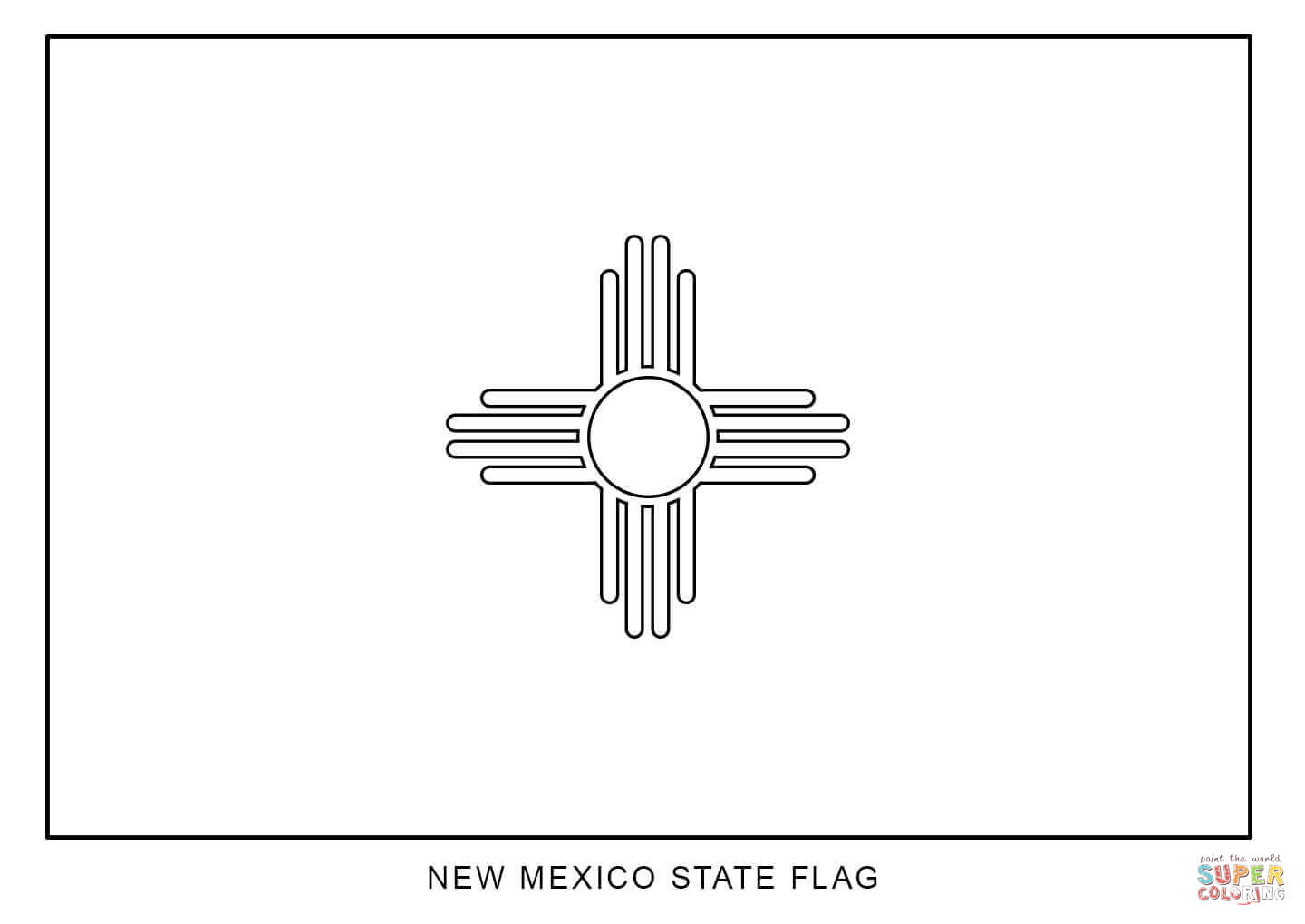 Flag Of New Mexico Coloring Page