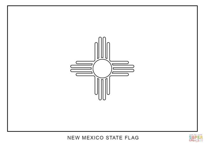 Click The Flag Of New Mexico Coloring Pages