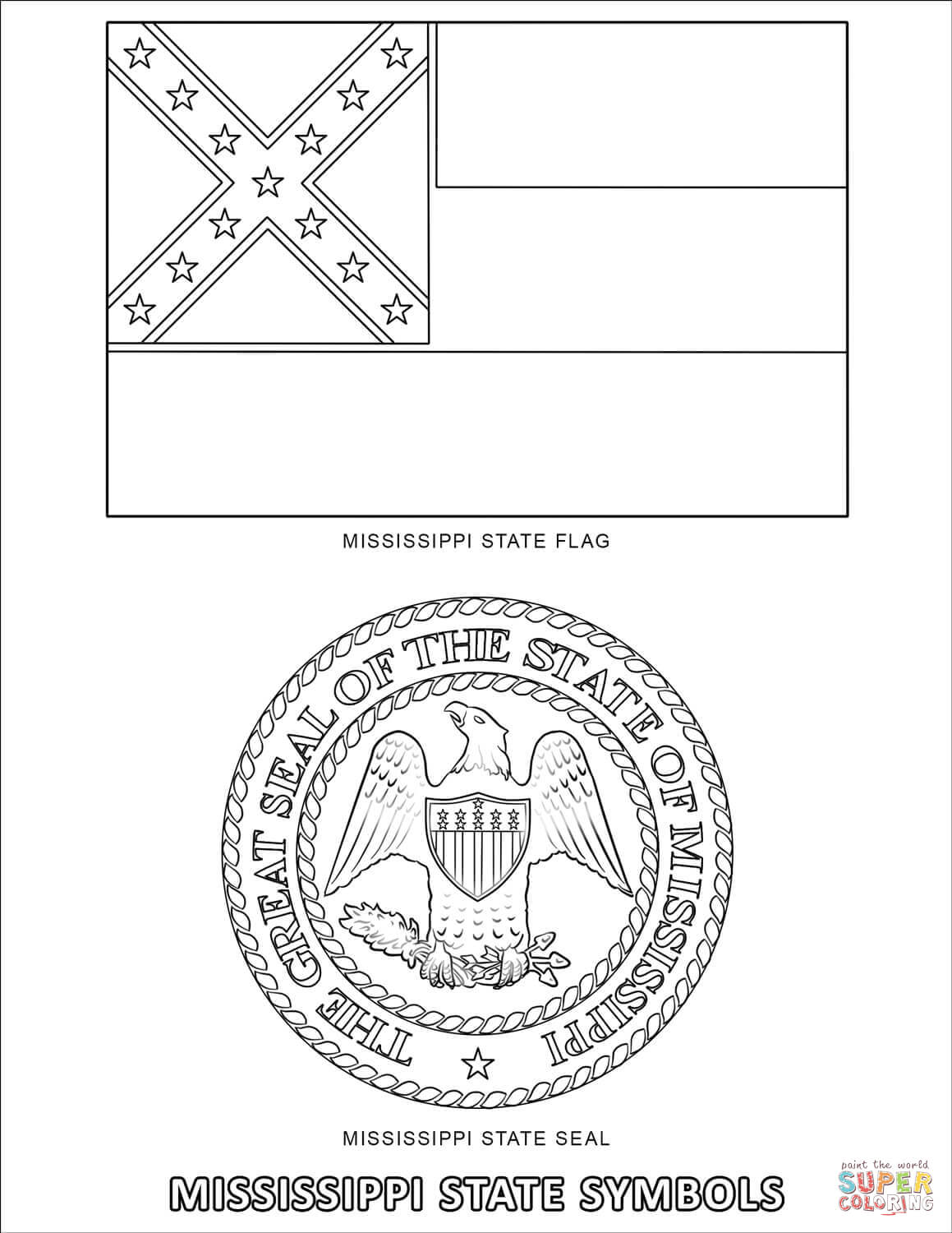 Arkansas State Bird And Flower Coloring Pages
