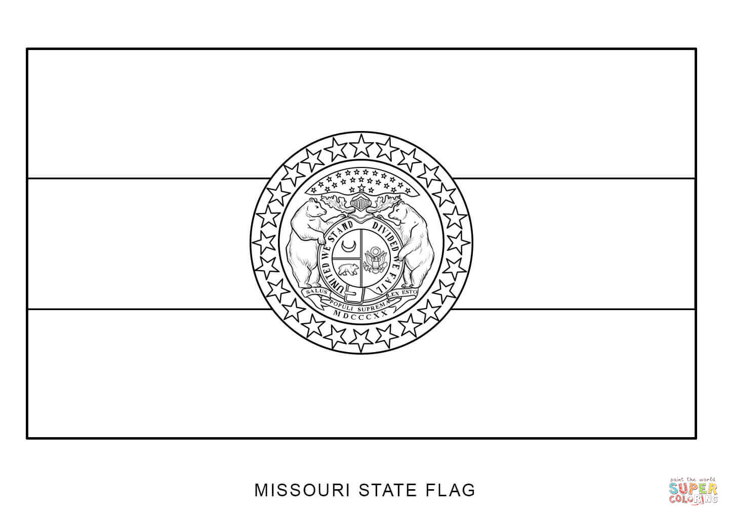 Missouri State Flag Coloring Page