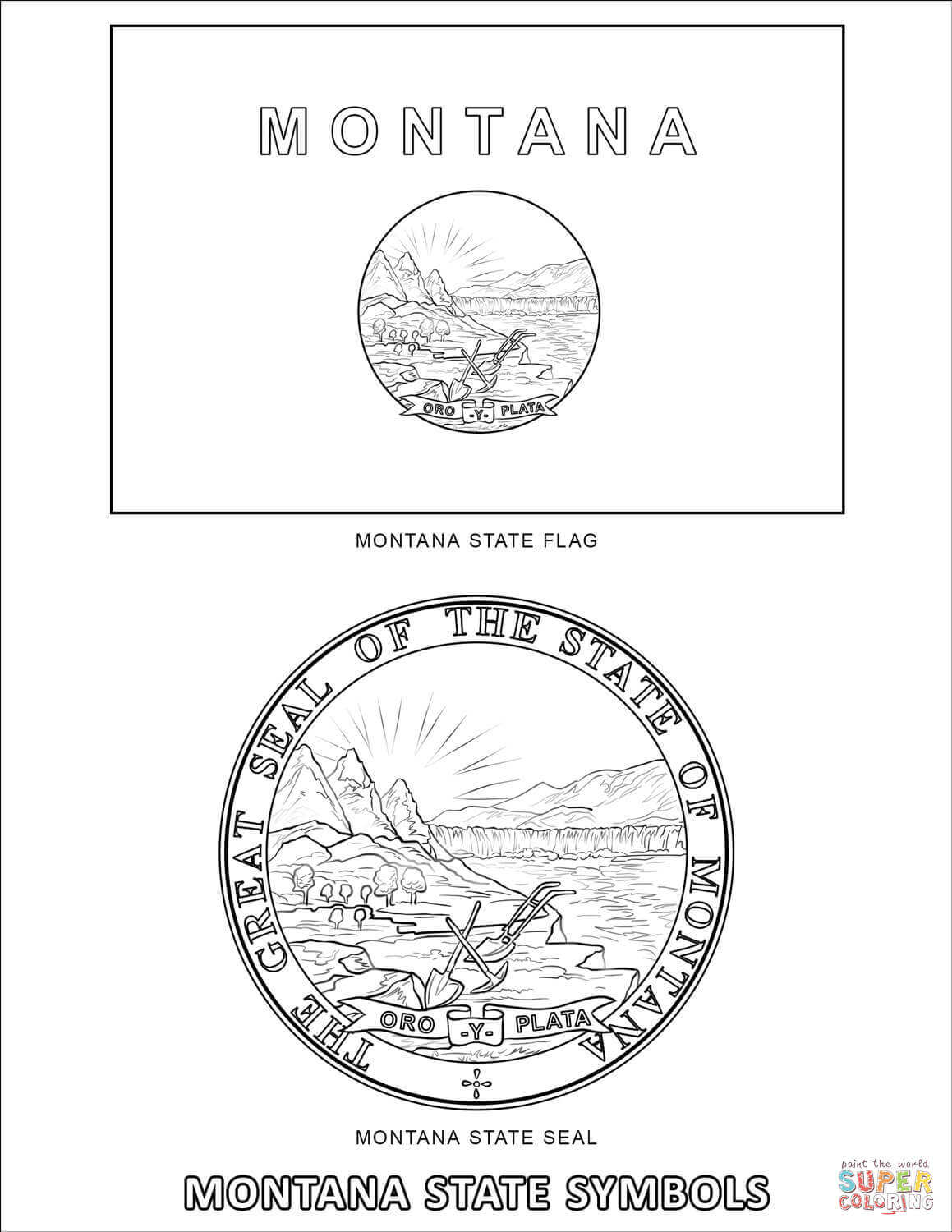 Nevada State Symbols Coloring Pages Coloring Pages